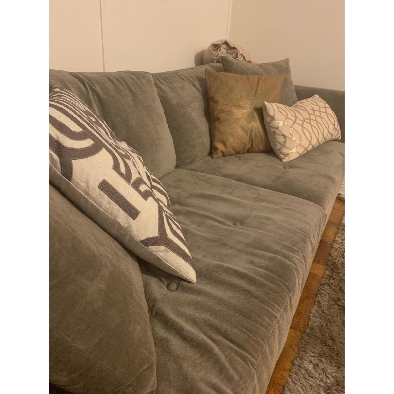 Grey Upholstered Sofa - image-2
