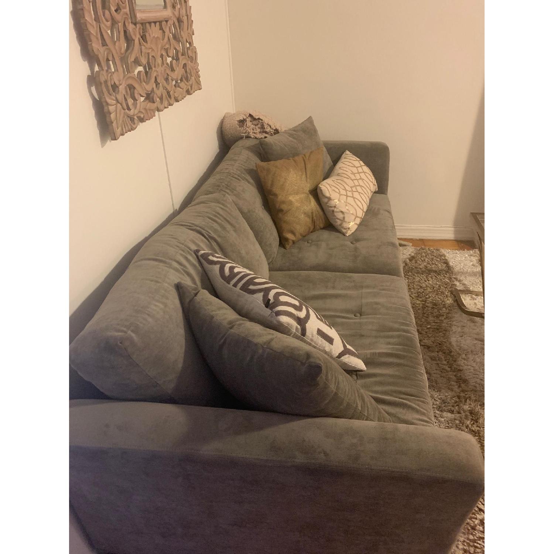 Grey Upholstered Sofa - image-3