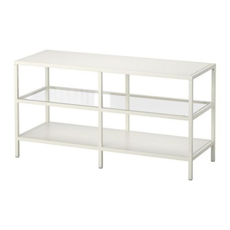 Ikea Vittsjo White TV Unit - image-0