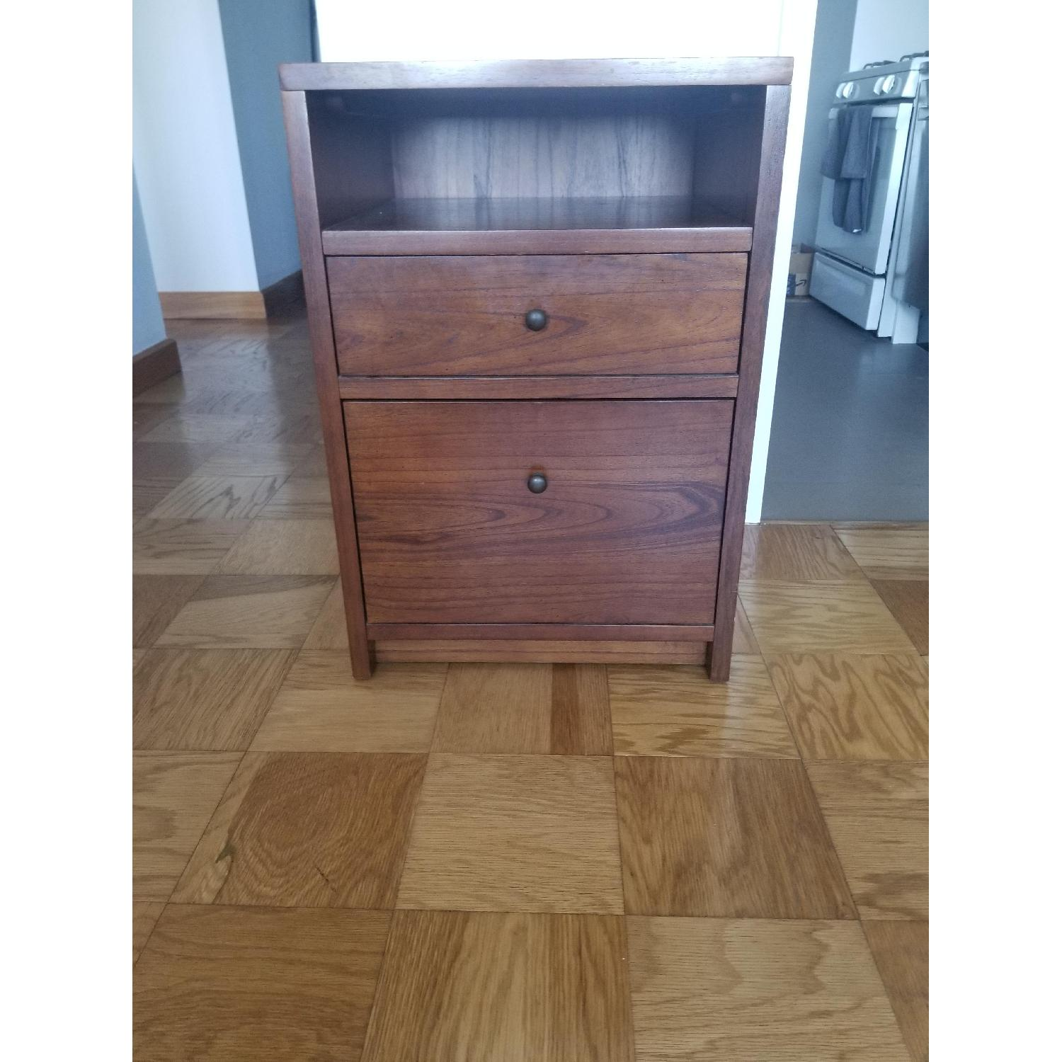 Pottery Barn Wood Filing Cabinet and Bedside Stand - image-1