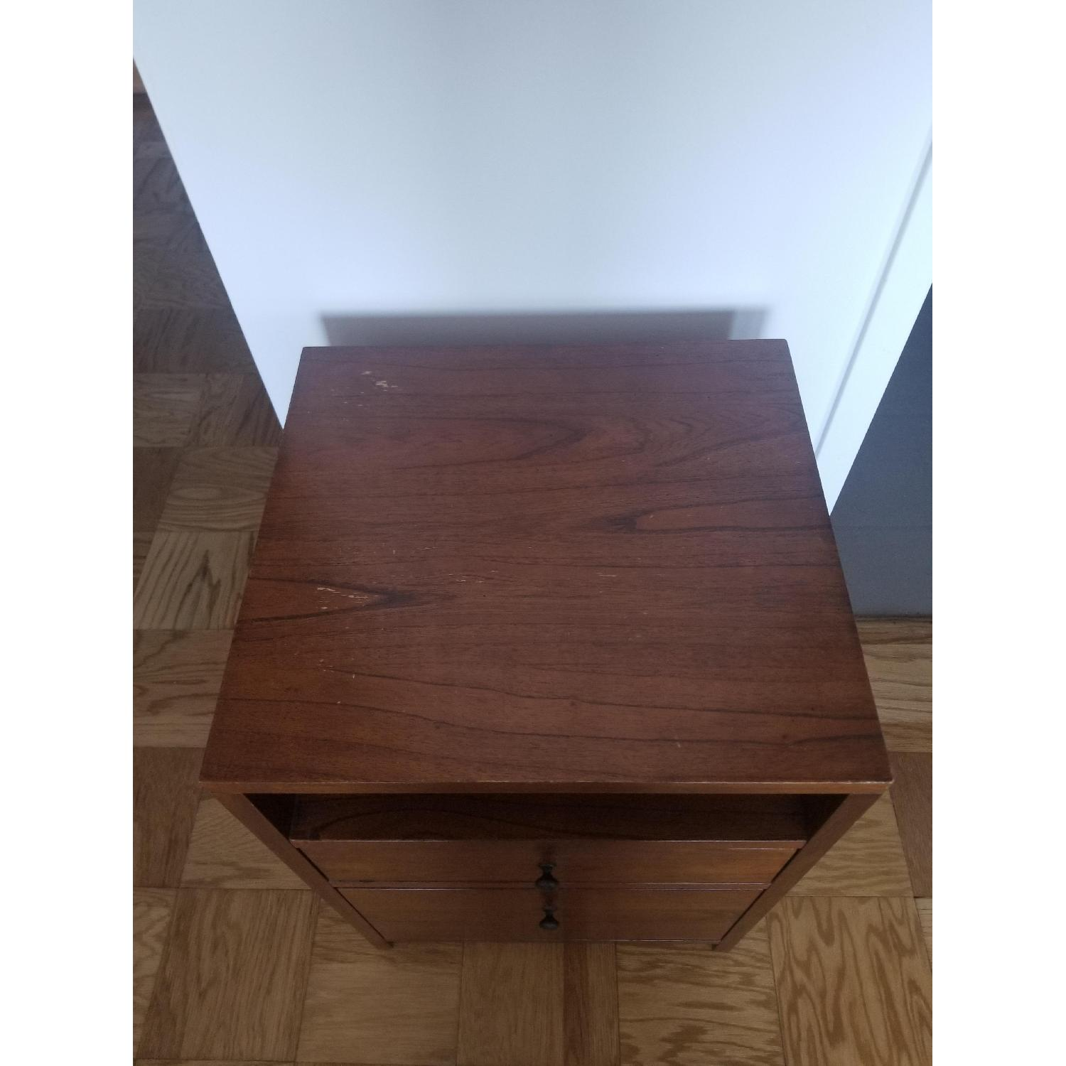 Pottery Barn Wood Filing Cabinet and Bedside Stand - image-2