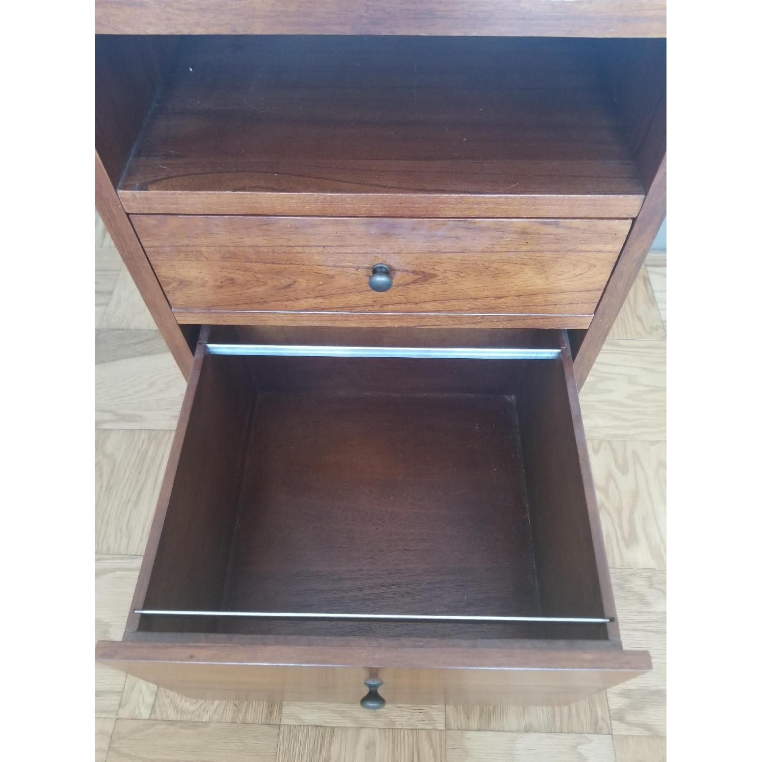 Pottery Barn Wood Filing Cabinet and Bedside Stand - image-3