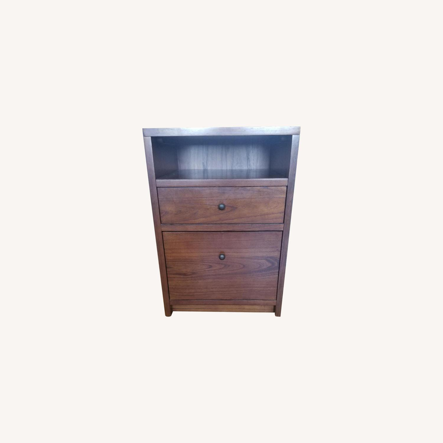 Pottery Barn Wood Filing Cabinet and Bedside Stand - image-0