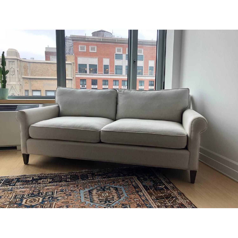 Crate & Barrel Montclair Roll Arm Apartment Sofa - image-1