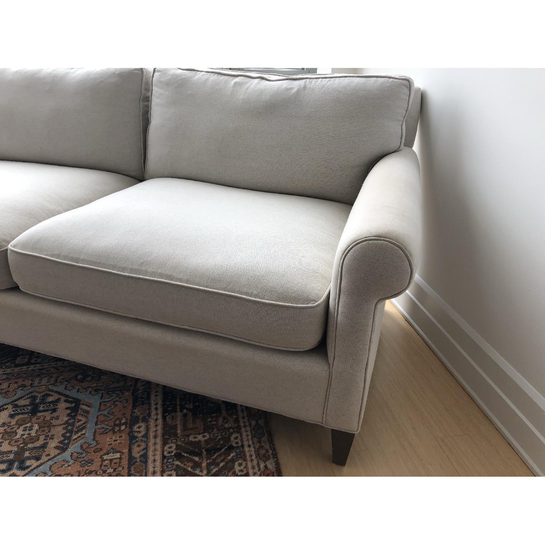 Crate & Barrel Montclair Roll Arm Apartment Sofa - image-3