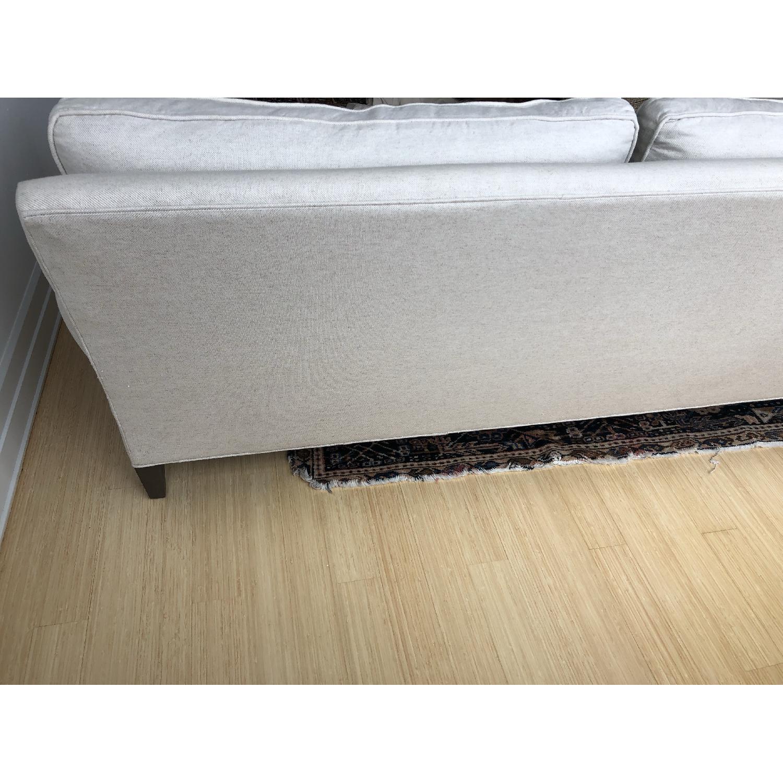 Crate & Barrel Montclair Roll Arm Apartment Sofa - image-4