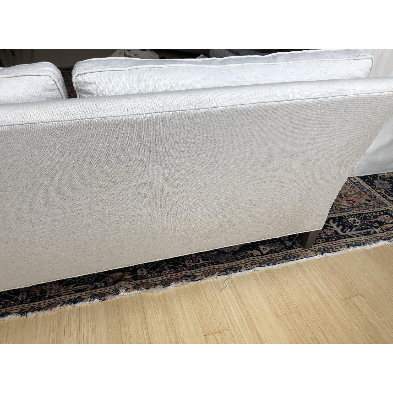 Crate & Barrel Montclair Roll Arm Apartment Sofa - image-5