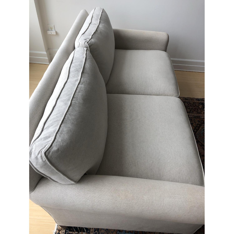 Crate & Barrel Montclair Roll Arm Apartment Sofa - image-6