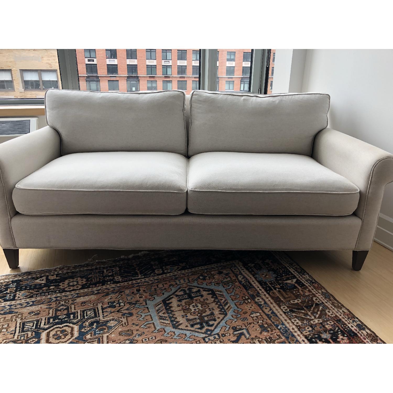 Crate & Barrel Montclair Roll Arm Apartment Sofa - image-7