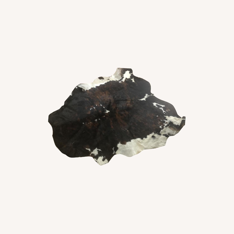 Brown Leather Cowhide Rug - image-0