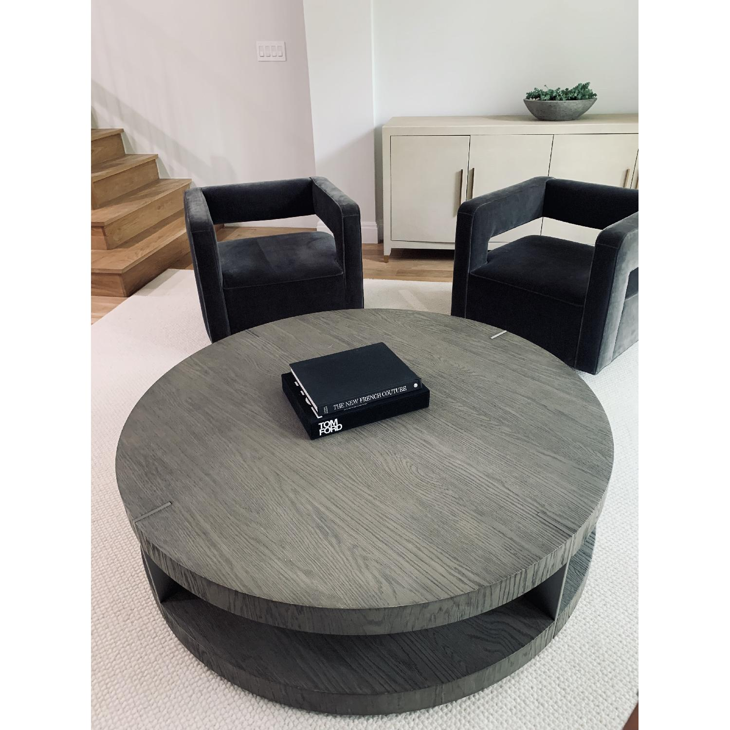 Restoration Hardware Modern Verrazano Round Coffee Table Aptdeco