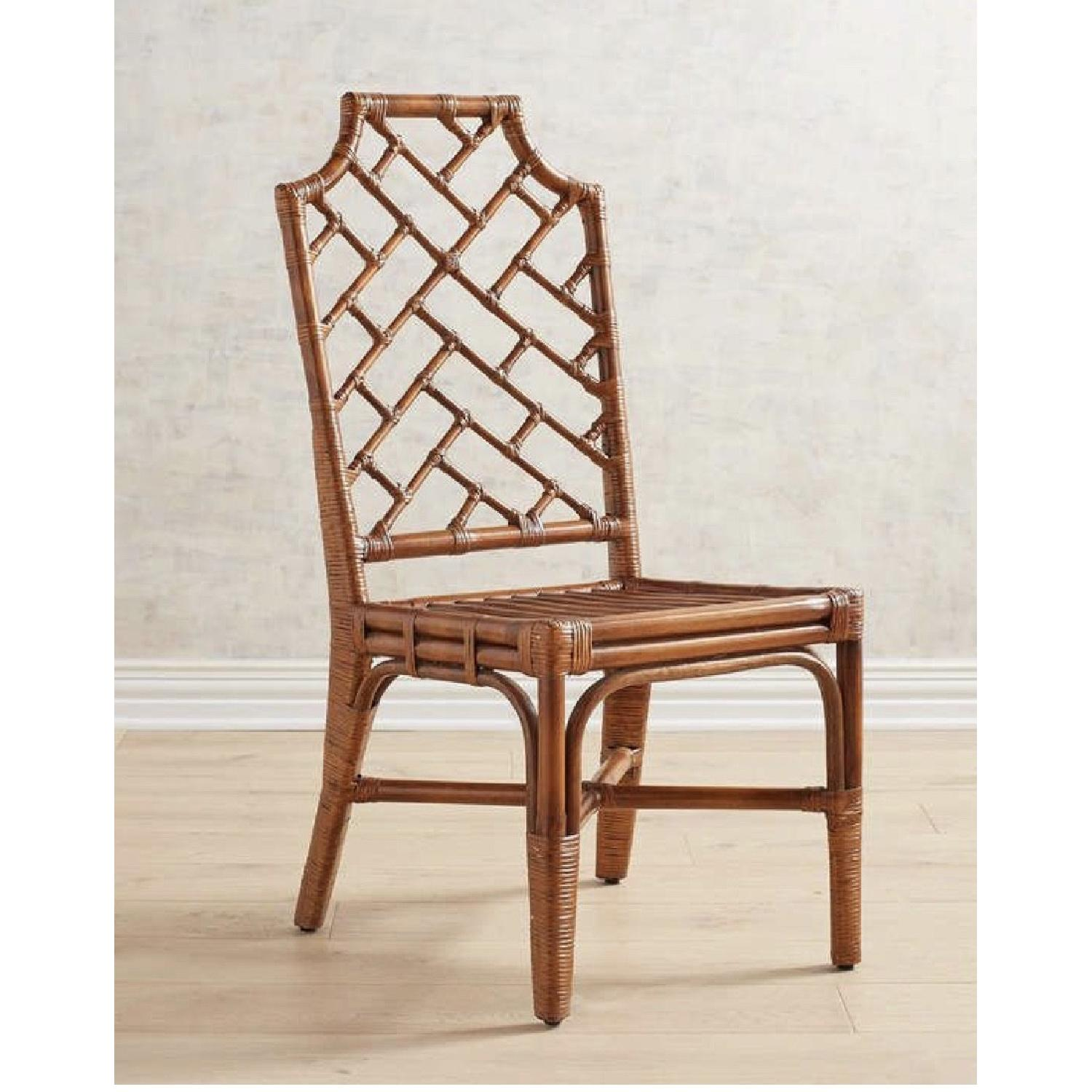 Pier 1 Rattan Dining Chairs - image-1