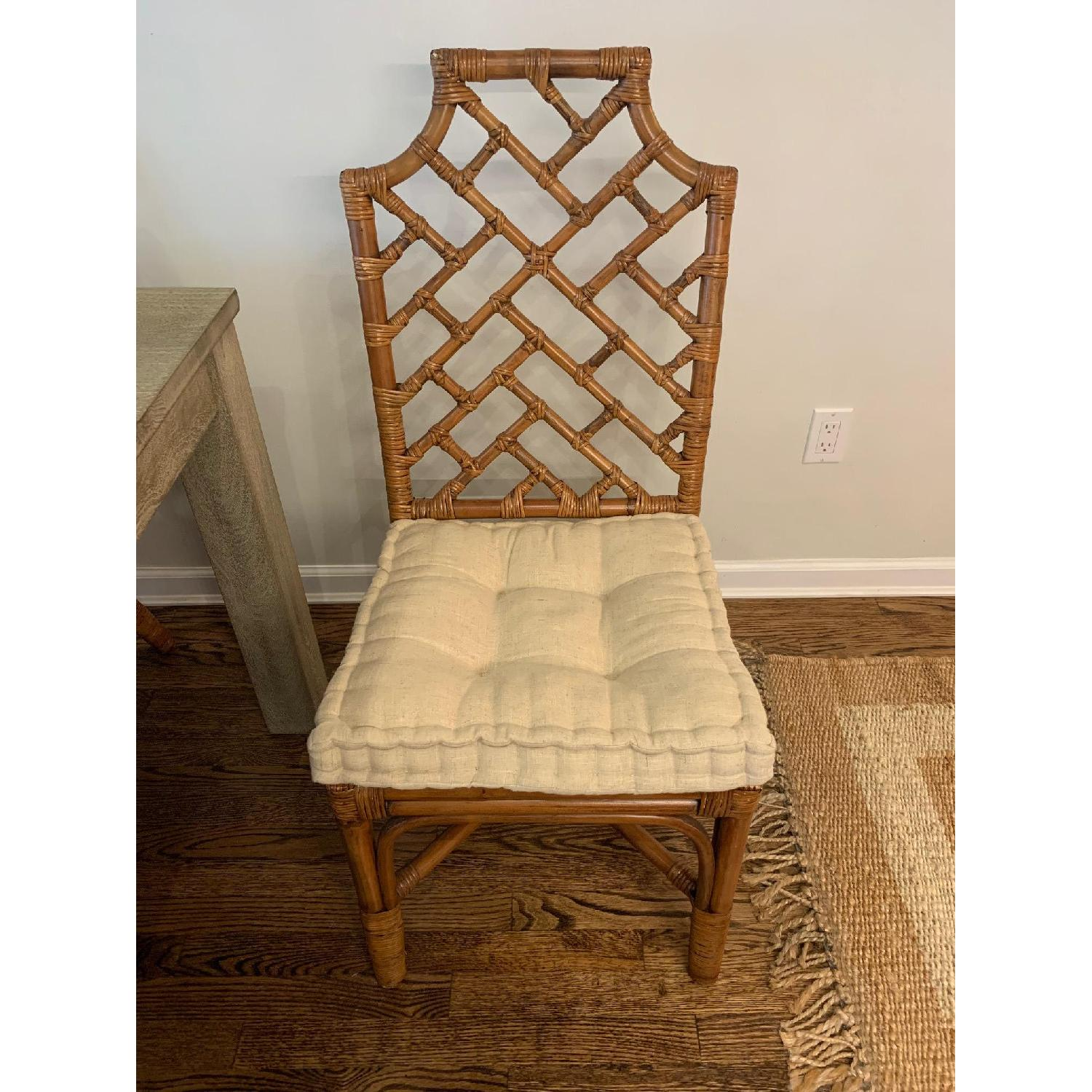 Pier 1 Rattan Dining Chairs - image-2