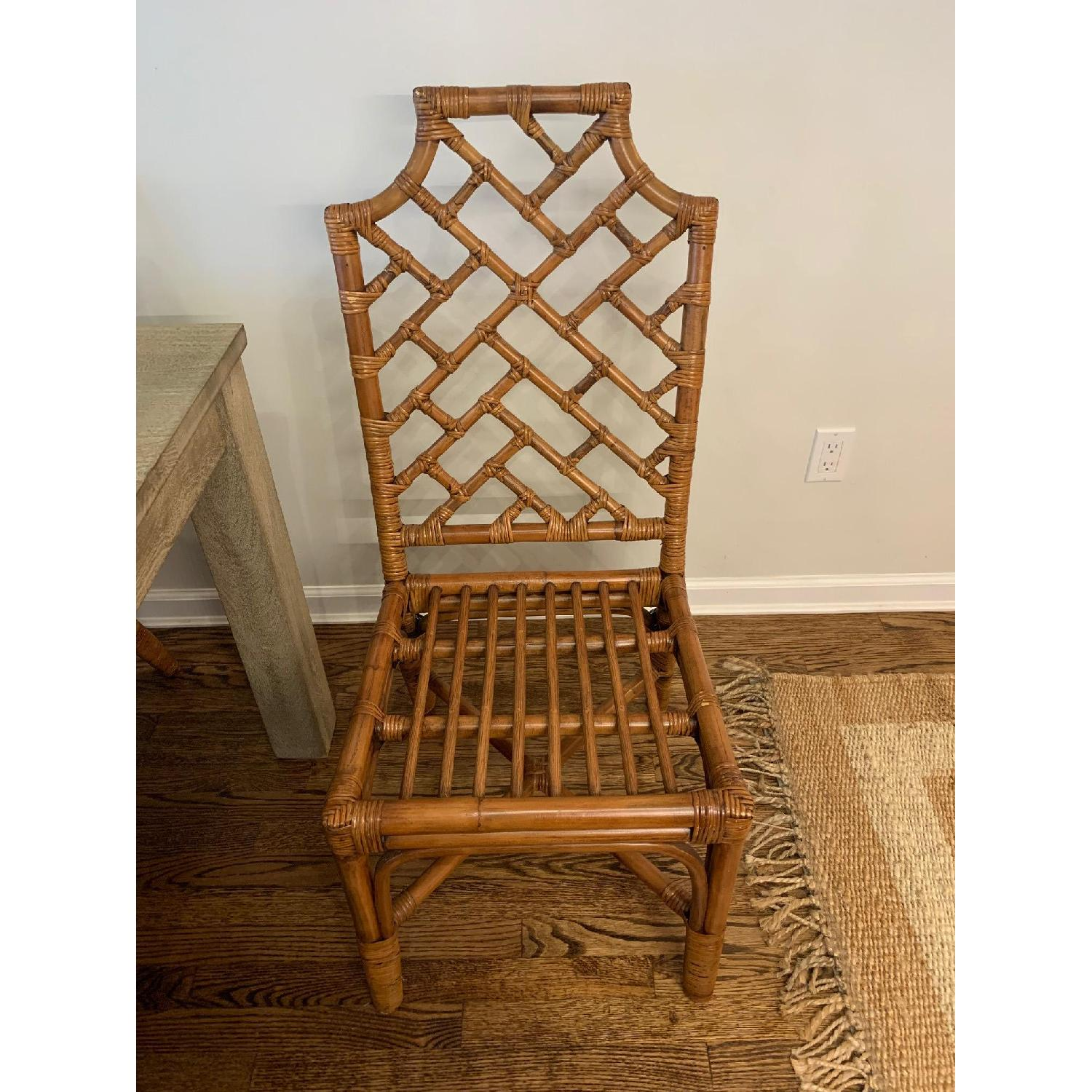 Pier 1 Rattan Dining Chairs - image-3