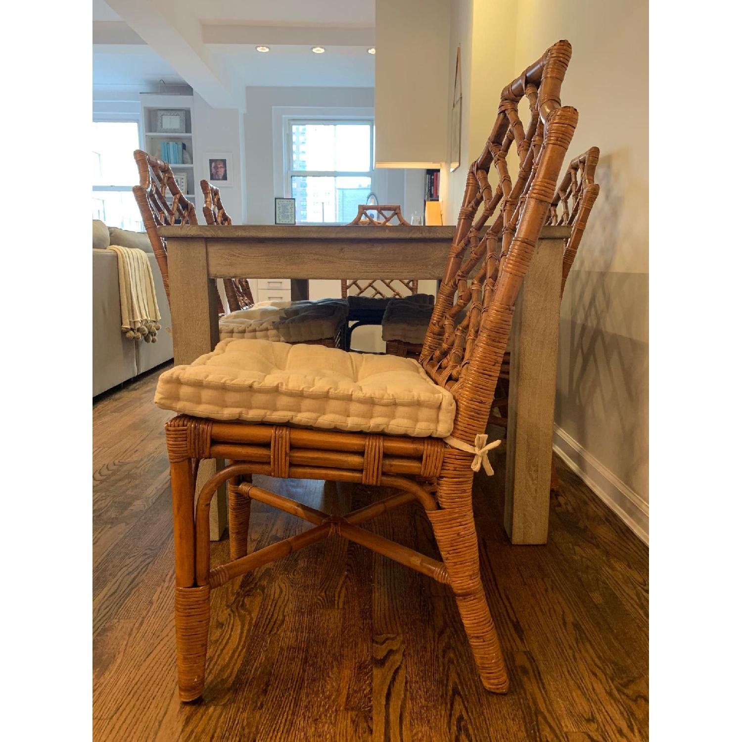 Pier 1 Rattan Dining Chairs - image-4
