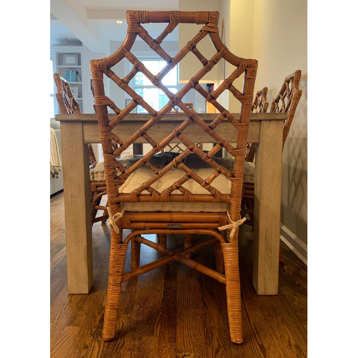 Pier 1 Rattan Dining Chairs - image-5
