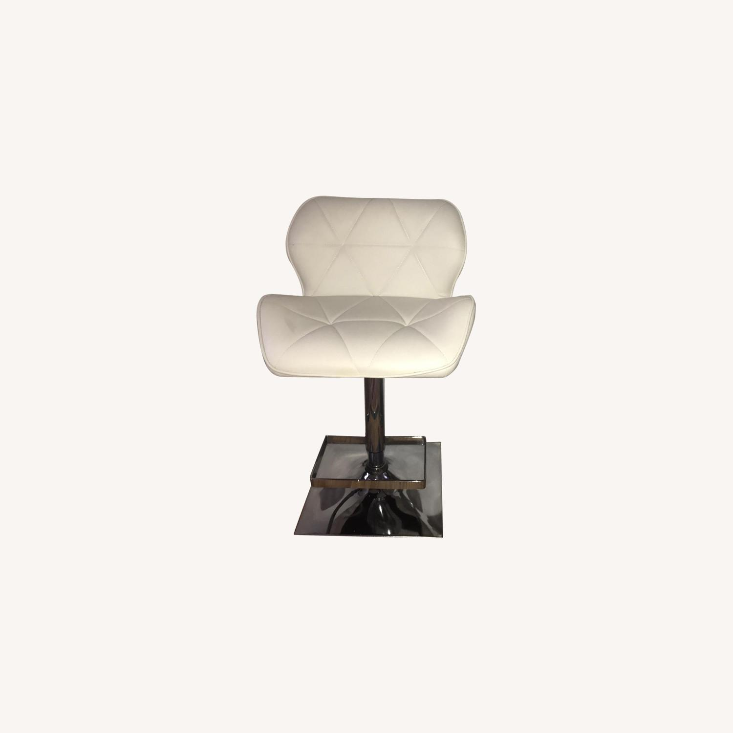 Anji Tianwei Steel White Faux Leather Bar Chairs - image-0