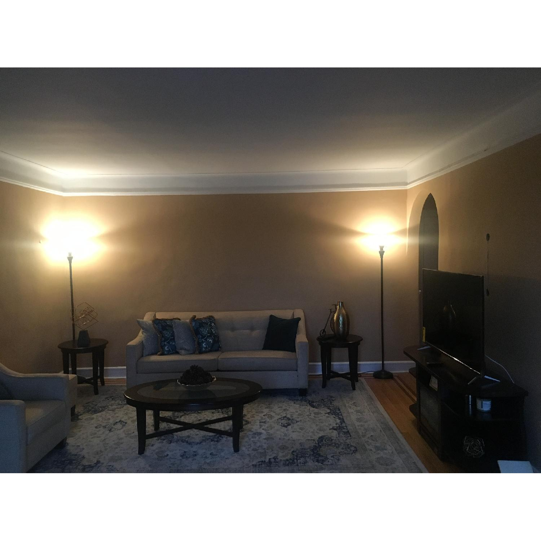 Bob's Beige Sofa + Armchair & Ottoman - image-2