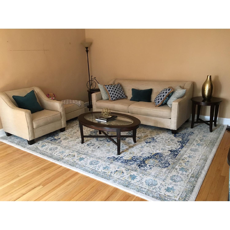 Bob's Beige Sofa + Armchair & Ottoman - image-1