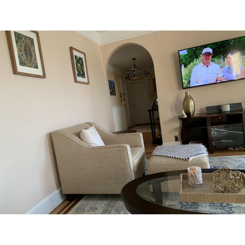 Bob's Beige Sofa + Armchair & Ottoman - image-3