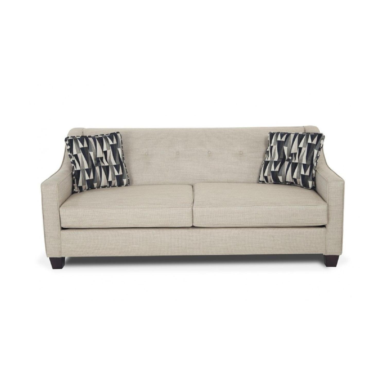 Bob's Beige Sofa + Armchair & Ottoman - image-0