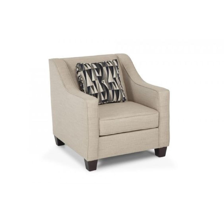Bob's Beige Sofa + Armchair & Ottoman - image-5