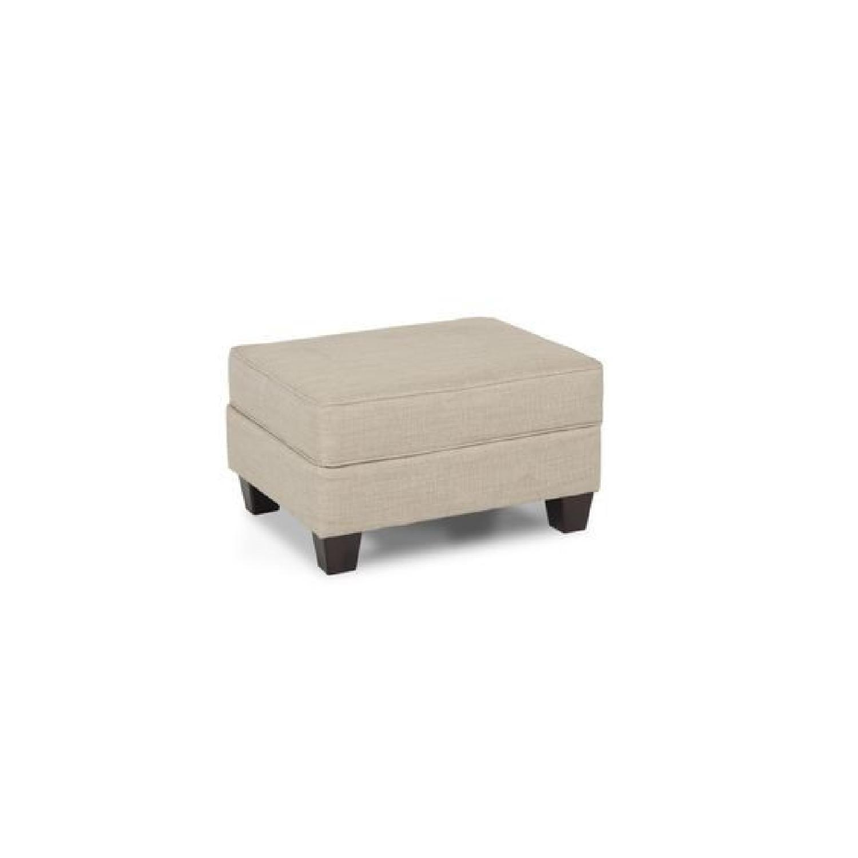 Bob's Beige Sofa + Armchair & Ottoman - image-6