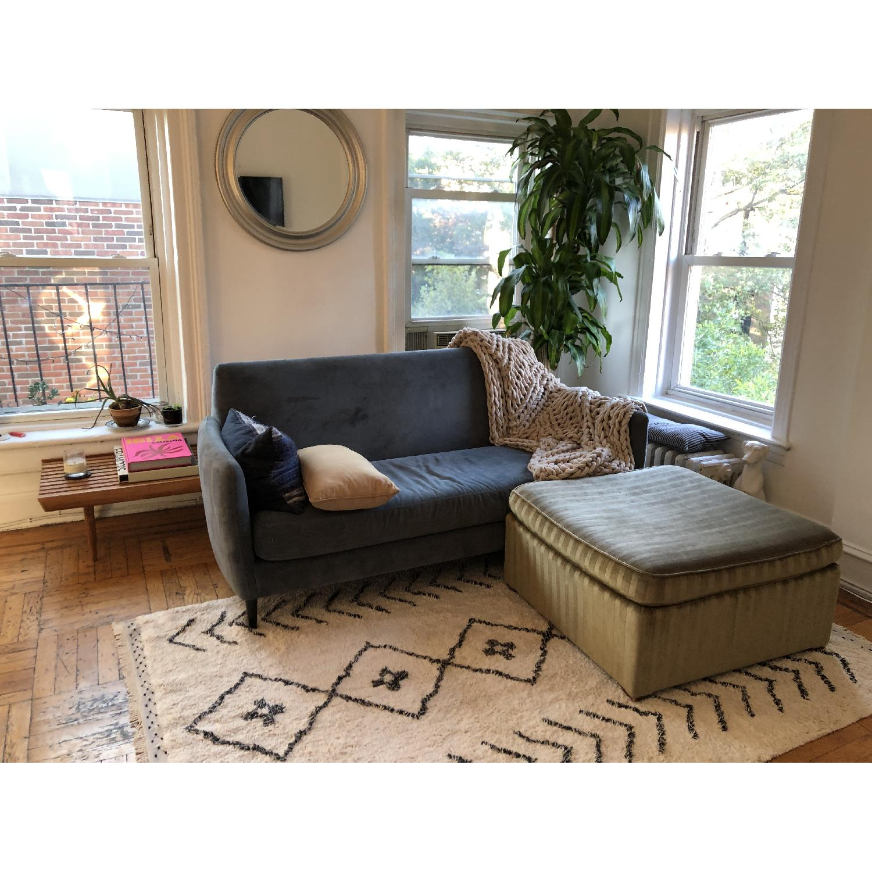 CB2 Flatiron Dove Grey Apartment Sofa - image-10