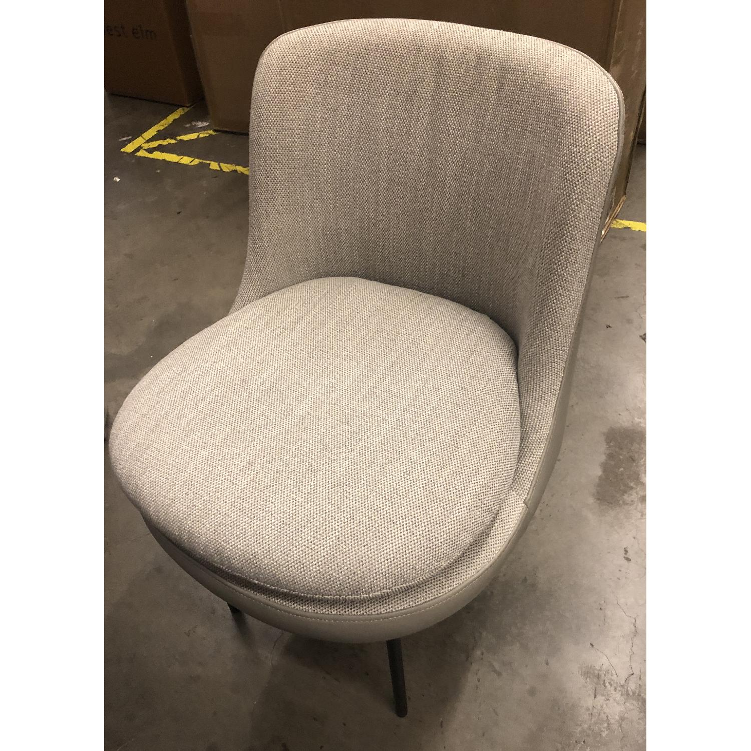 West Elm Modern Curved Chair - image-2