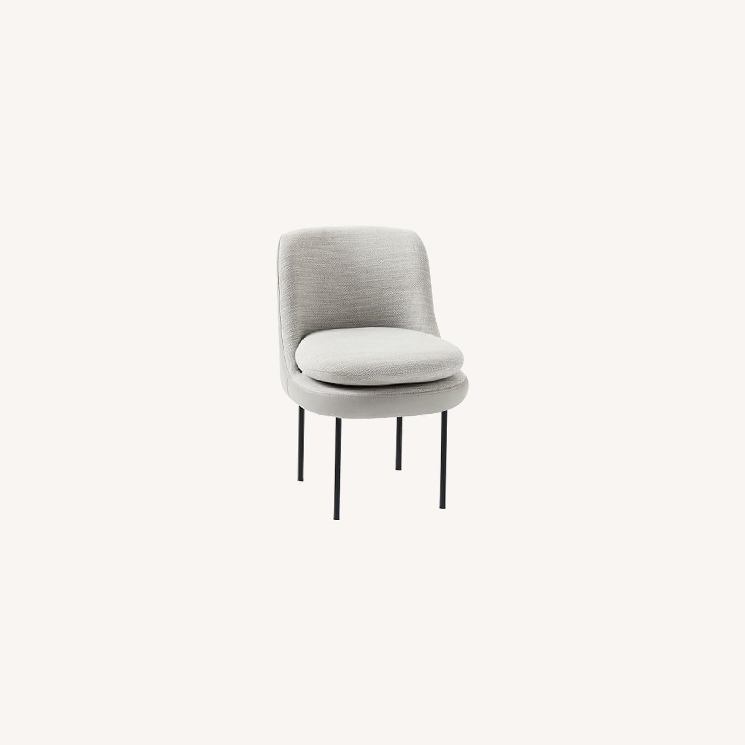 West Elm Modern Curved Chair - image-0