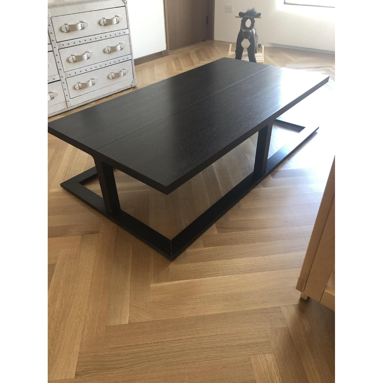 Black Wooden Coffee Table - image-1