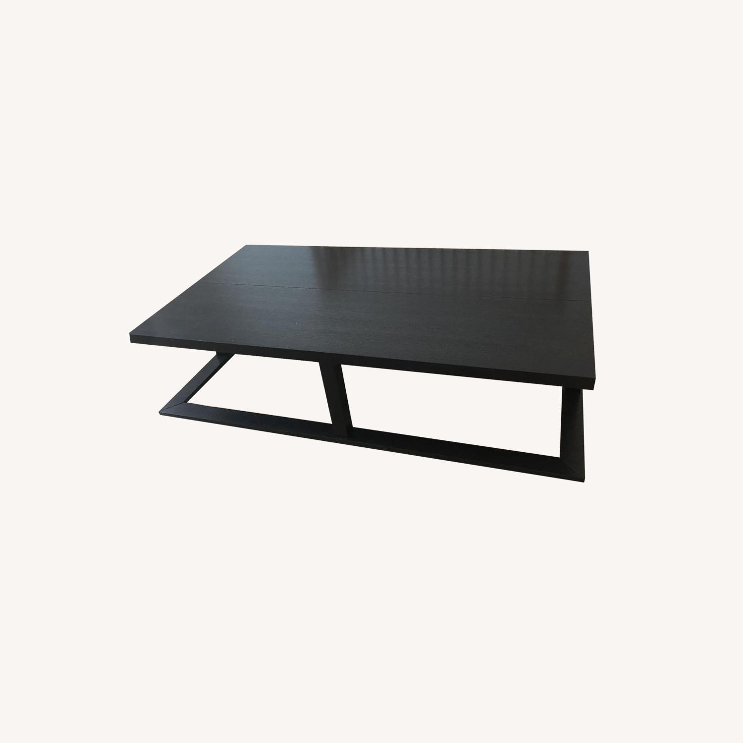 Black Wooden Coffee Table - image-0