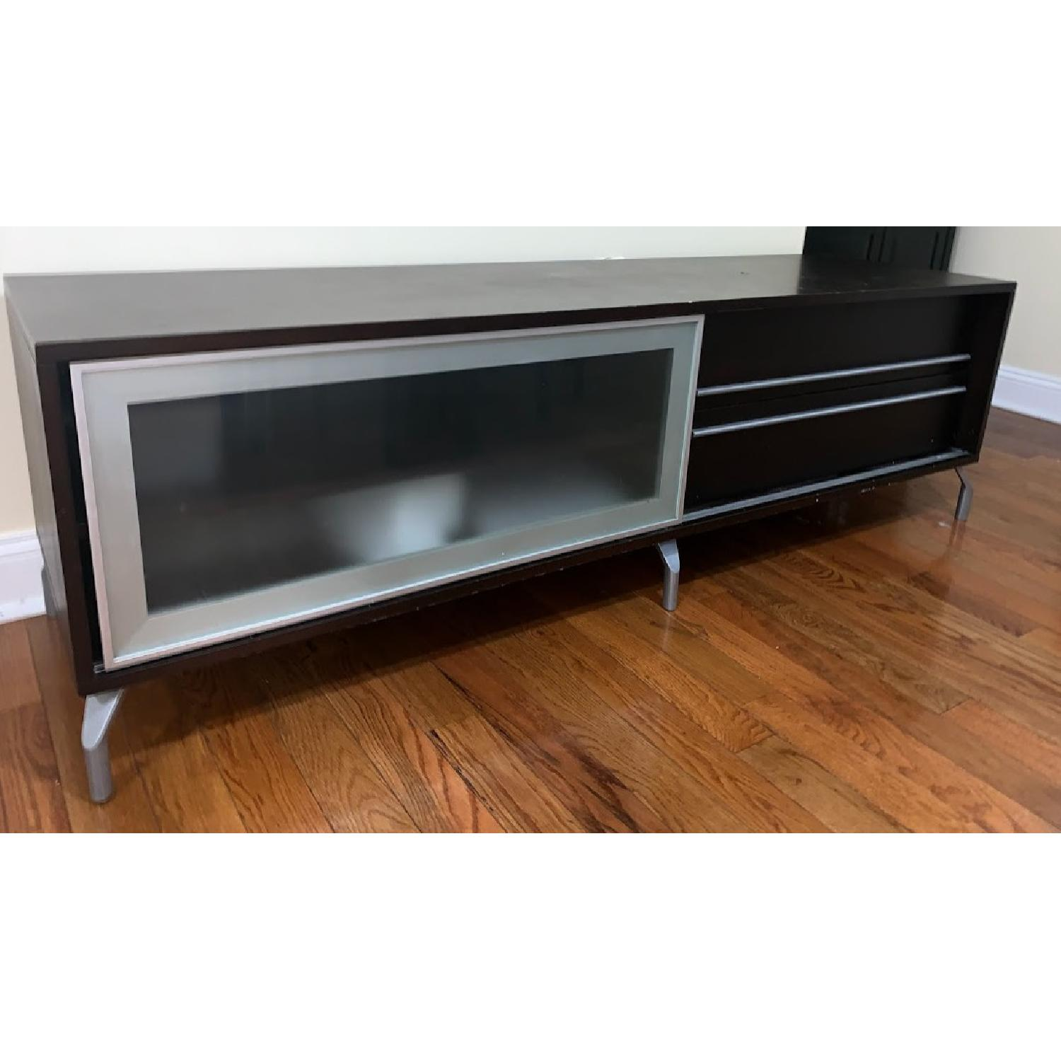 Solid Wood Media Console - image-1
