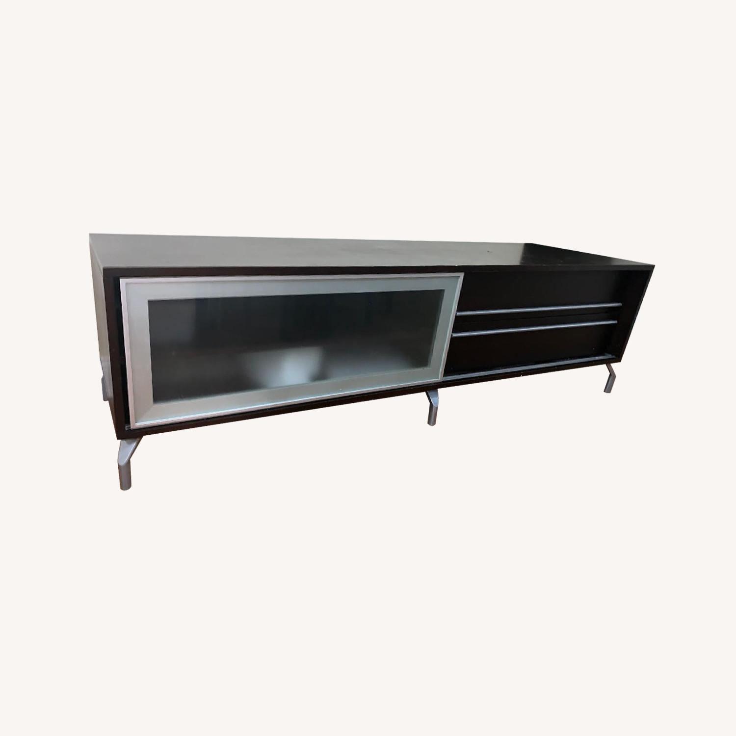 Solid Wood Media Console - image-0