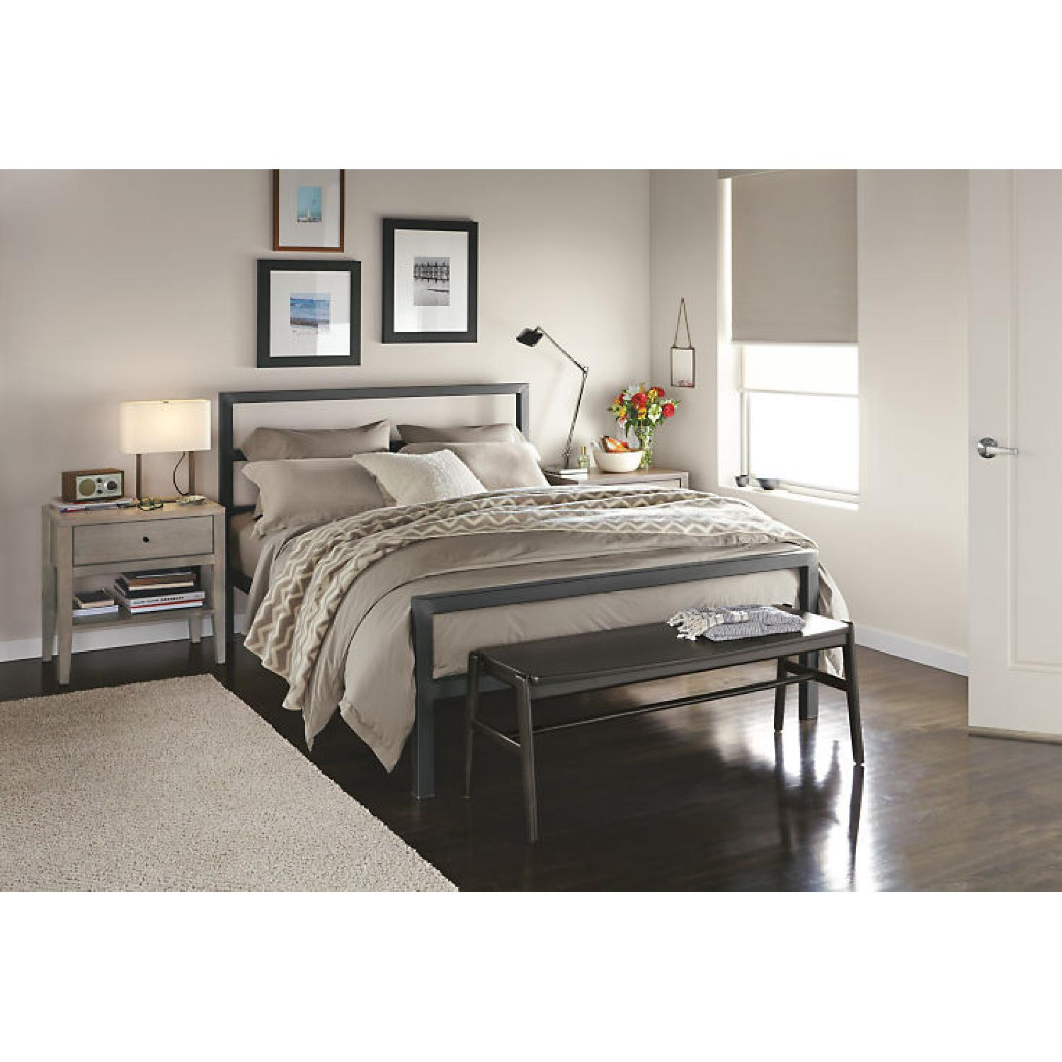 Room & Board Parsons Queen Sized Bed in Natural Steel - image-2