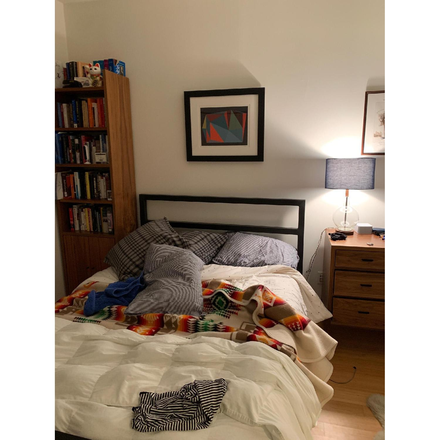 Room & Board Parsons Queen Sized Bed in Natural Steel - image-3