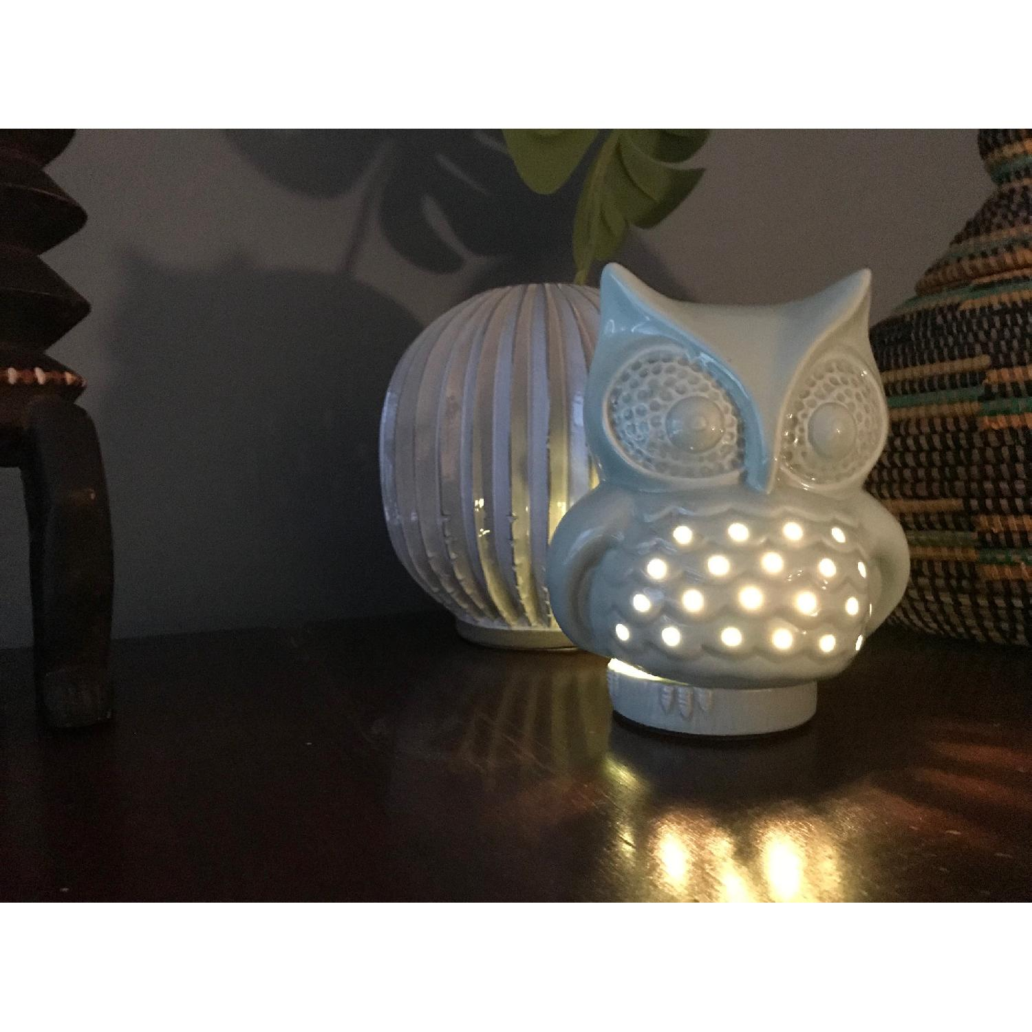 Urban Outfitters Ceramic Owl Lamp - image-1