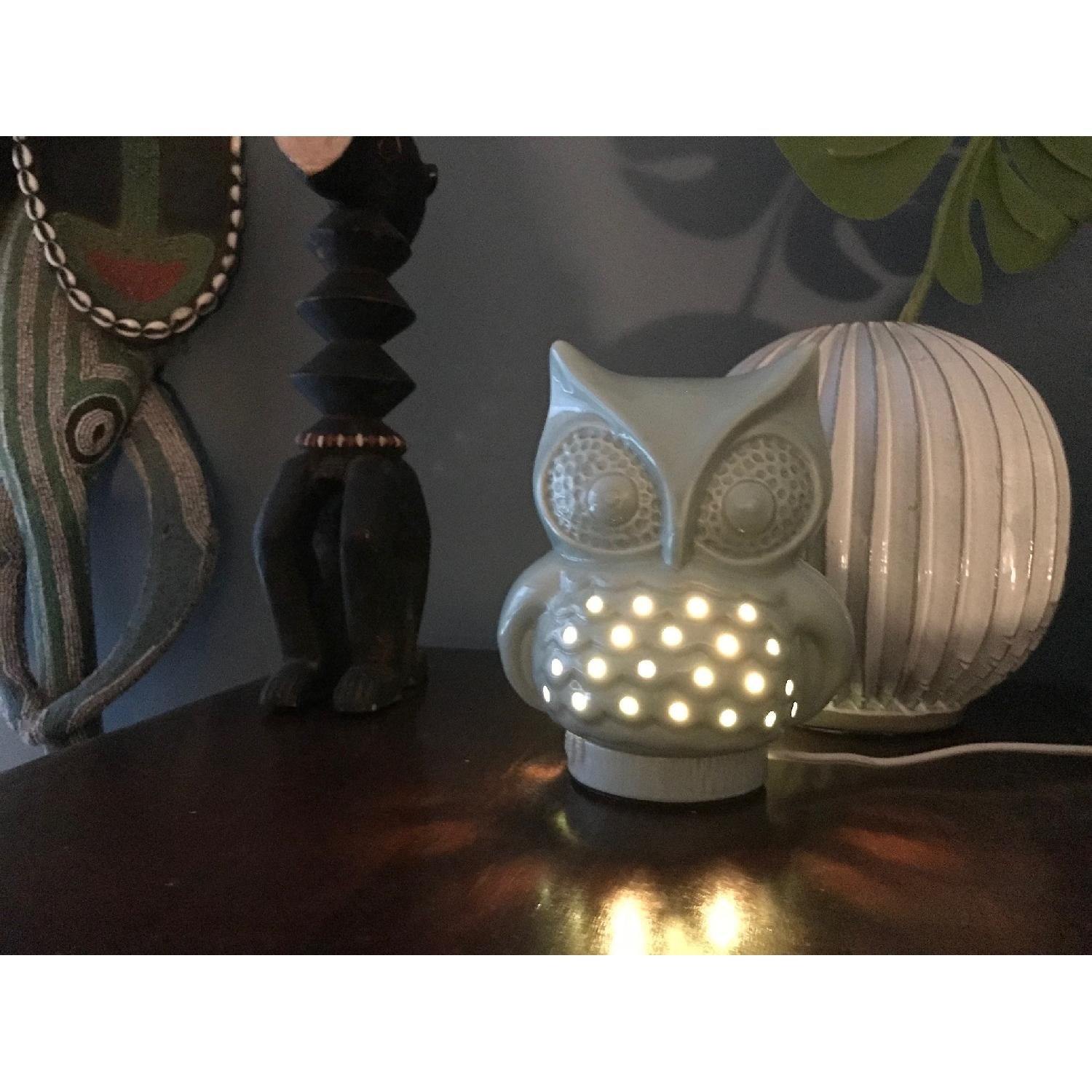 Urban Outfitters Ceramic Owl Lamp - image-2