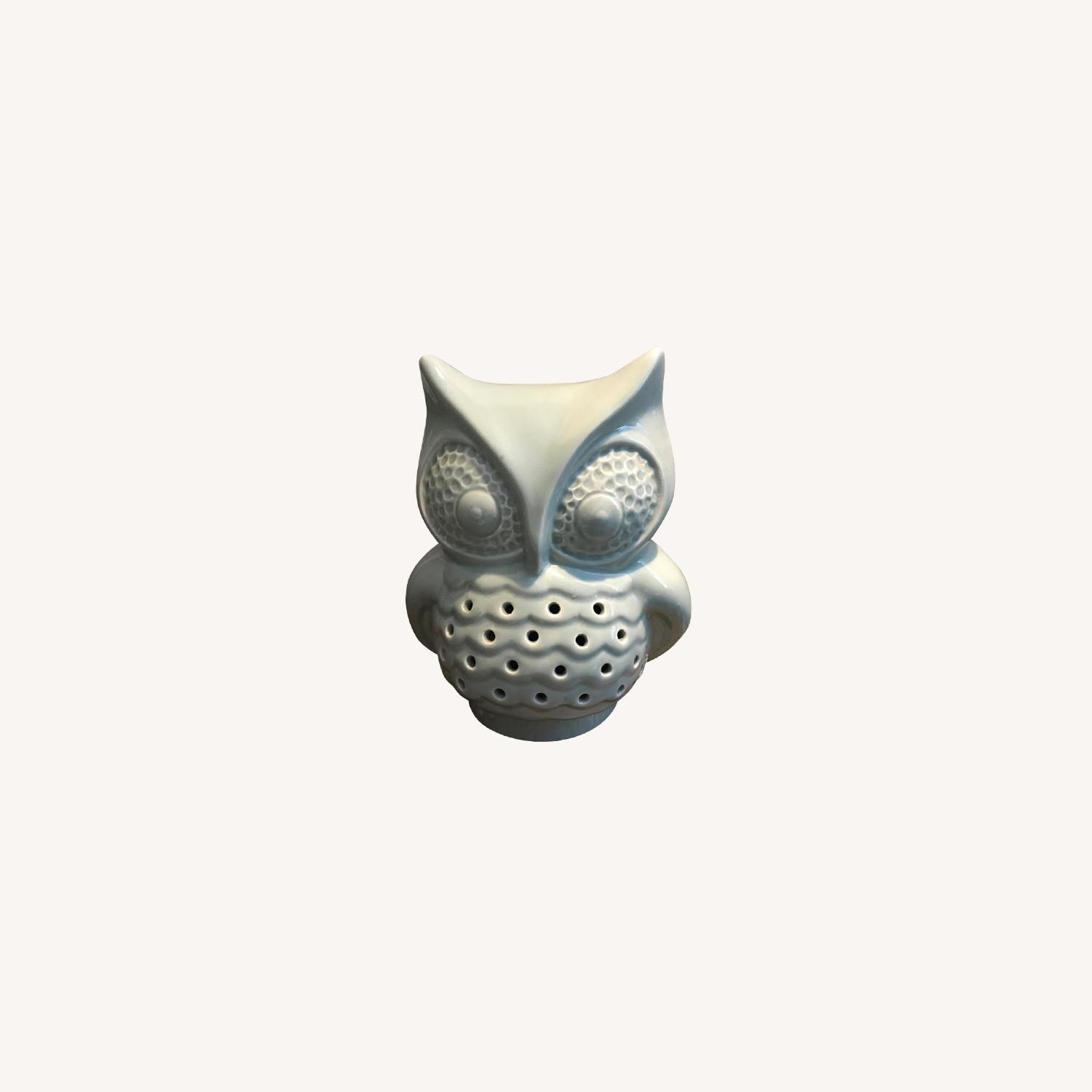 Urban Outfitters Ceramic Owl Lamp - image-0