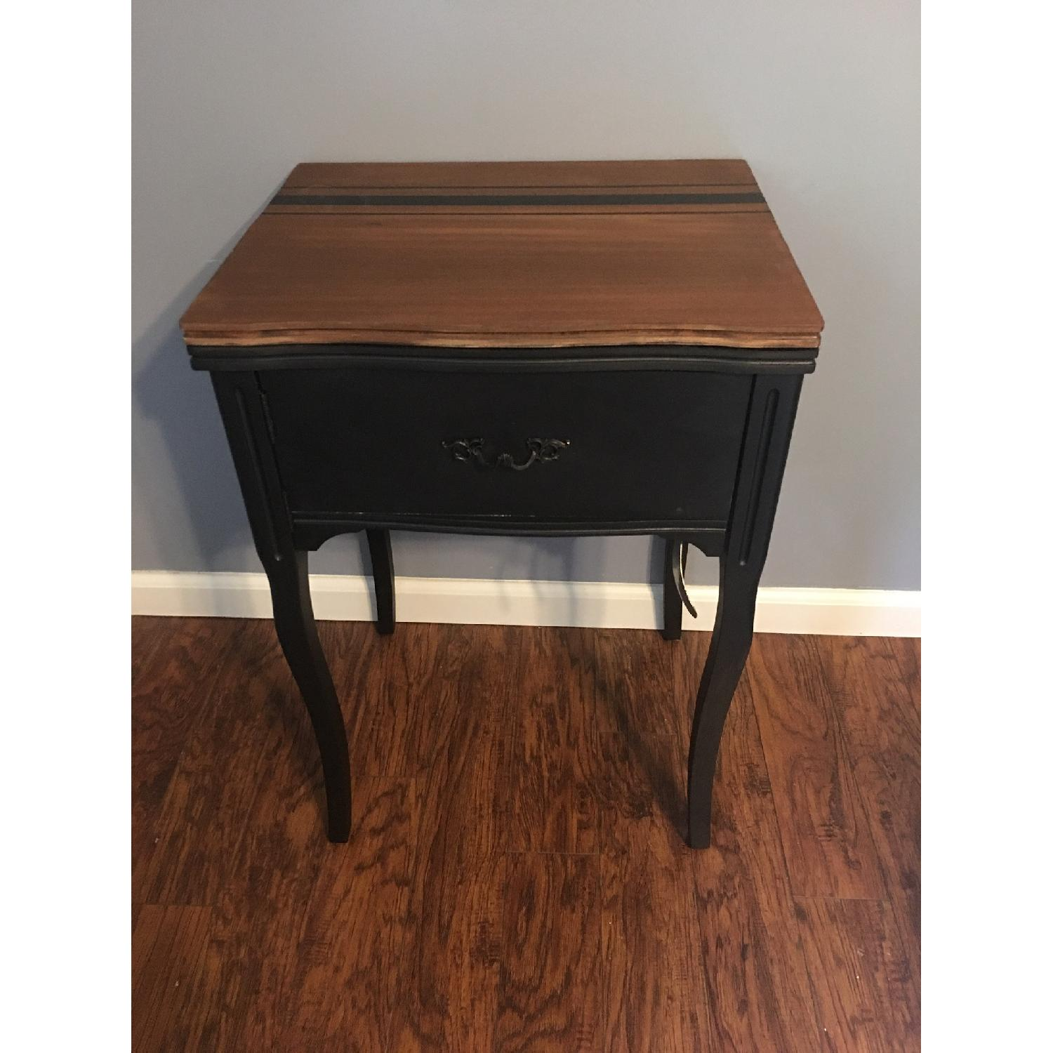 Vintage Sewing Machine Cabinet End Table - image-2