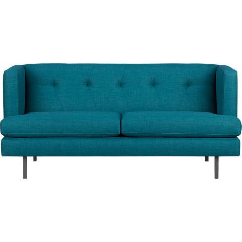 CB2 Avec Apartment Sofa in Peacock - image-0