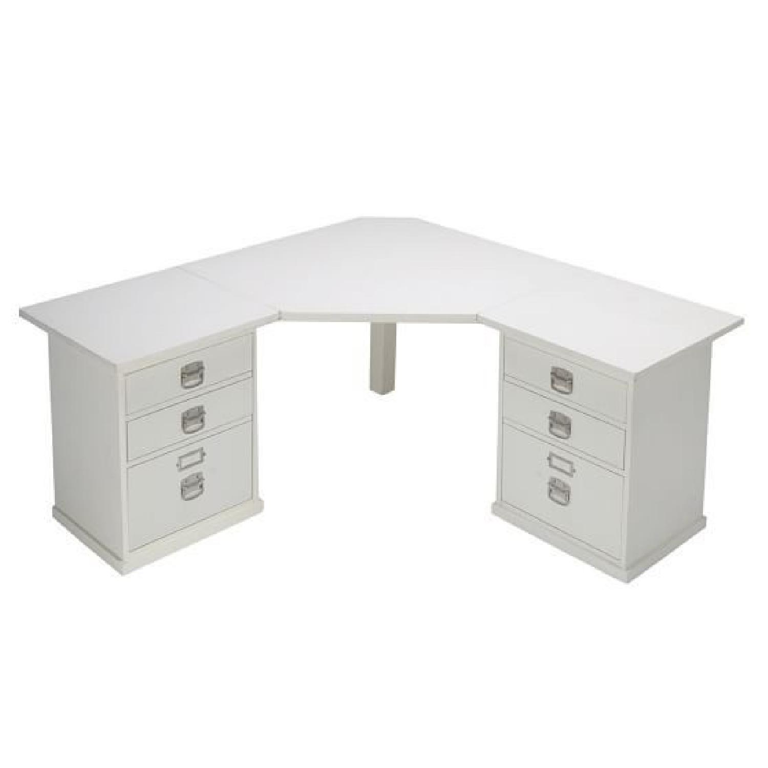 Pottery Barn Bedford Corner Desk w/ Hutch - image-11