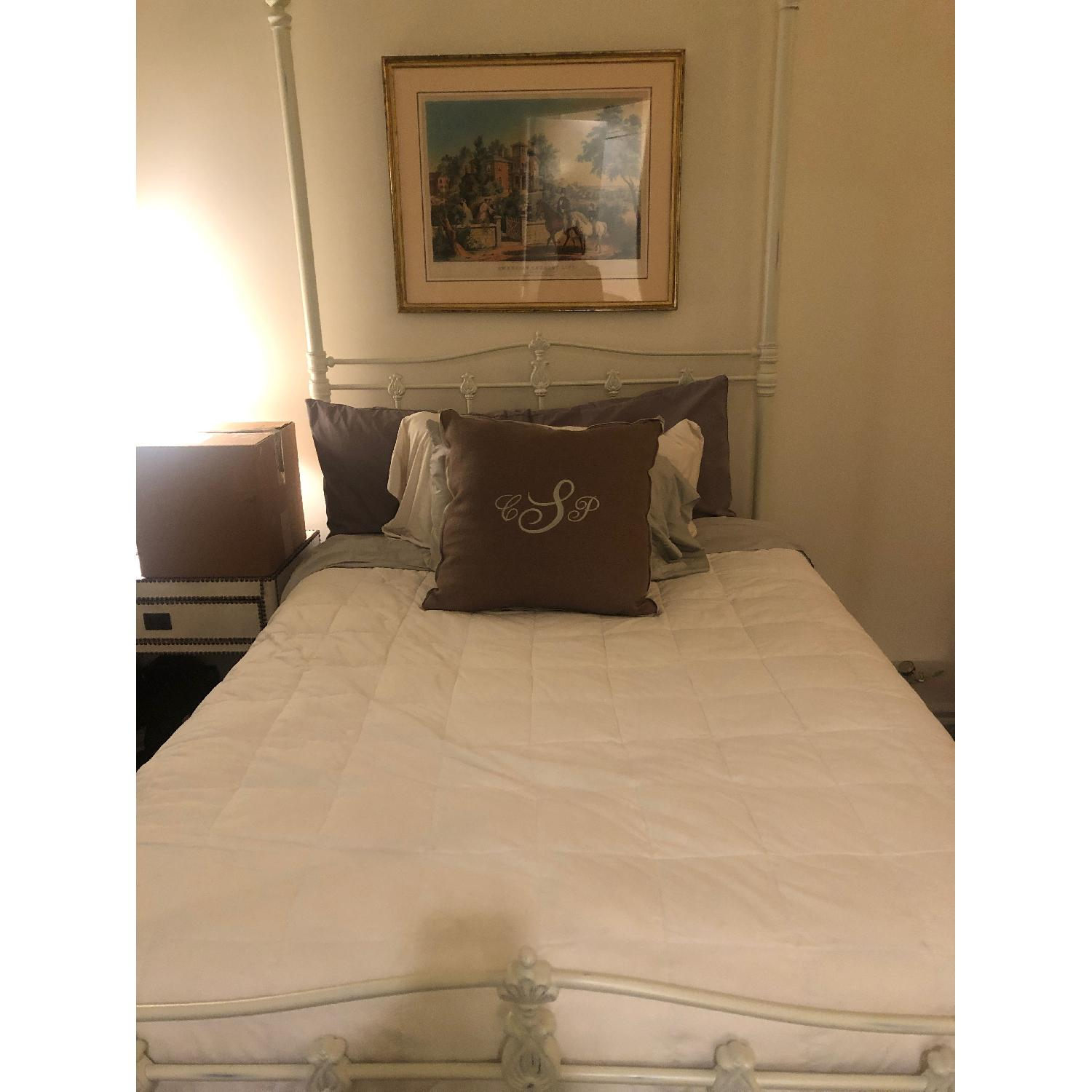 Pottery Barn Iron Full Bed in White Finish - image-3