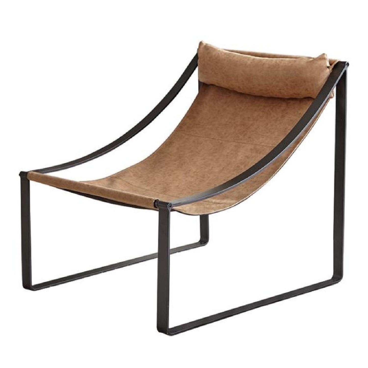 Light Brown Hammock Style Accent Chair - image-1