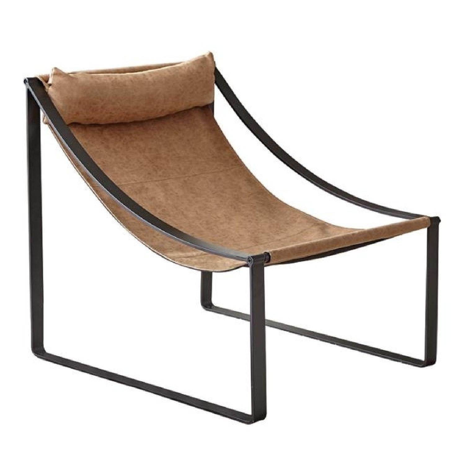Light Brown Hammock Style Accent Chair - image-0