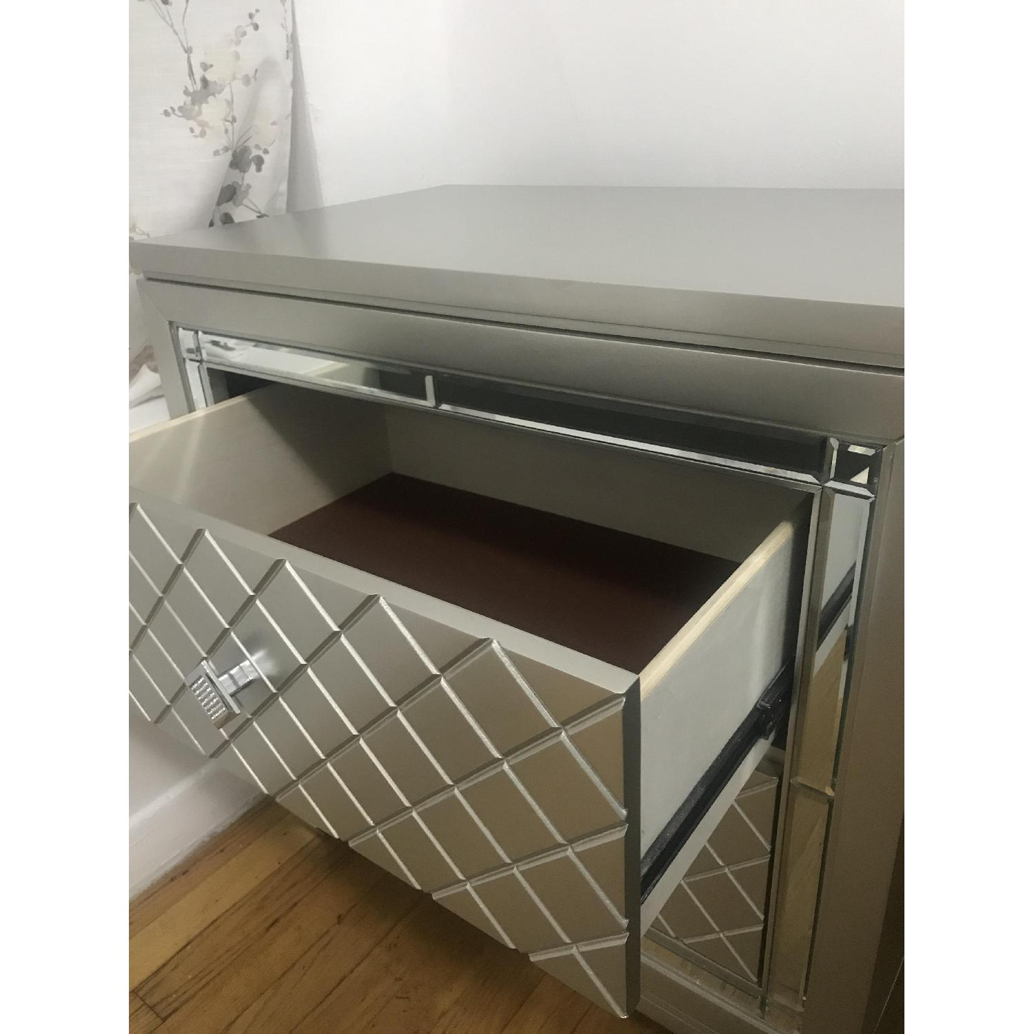 Silver 2-Drawer Nightstand - image-3