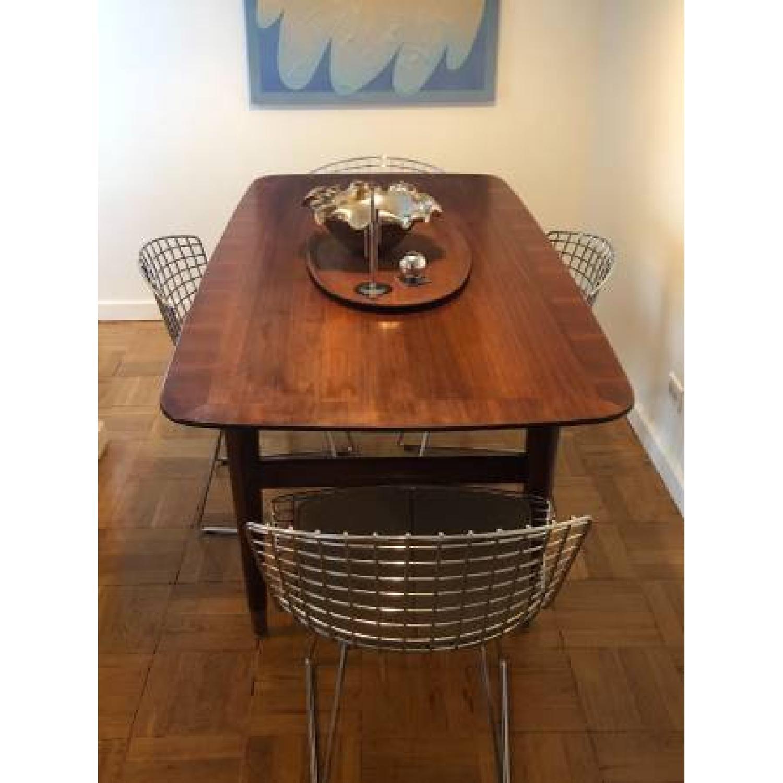 Standard Mid Century Modern Wooden Desk w/ Drawer - image-1