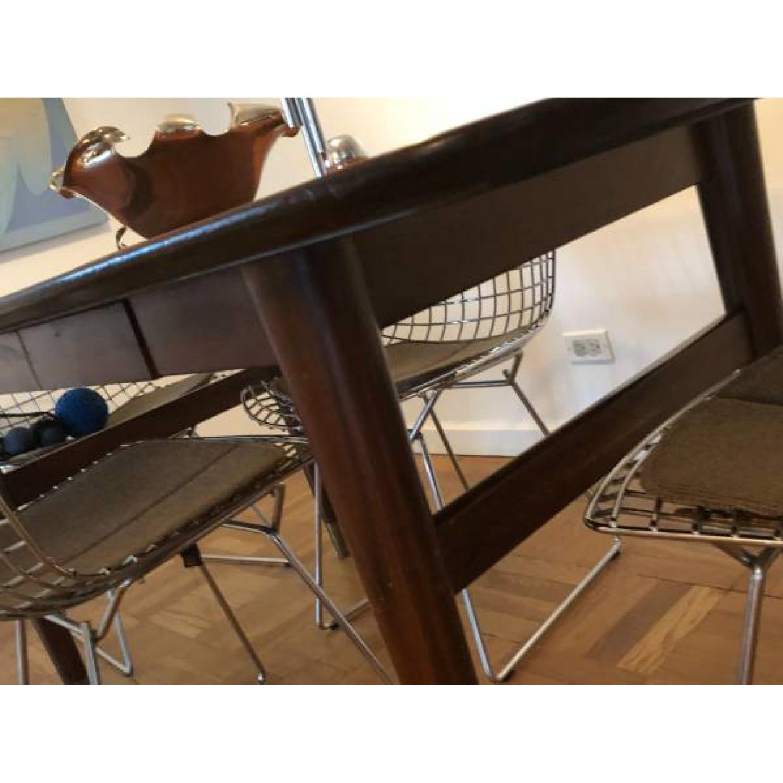 Standard Mid Century Modern Wooden Desk w/ Drawer - image-2