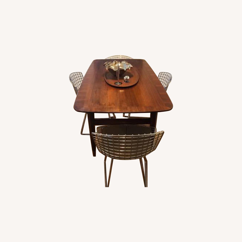 Standard Mid Century Modern Wooden Desk w/ Drawer - image-0
