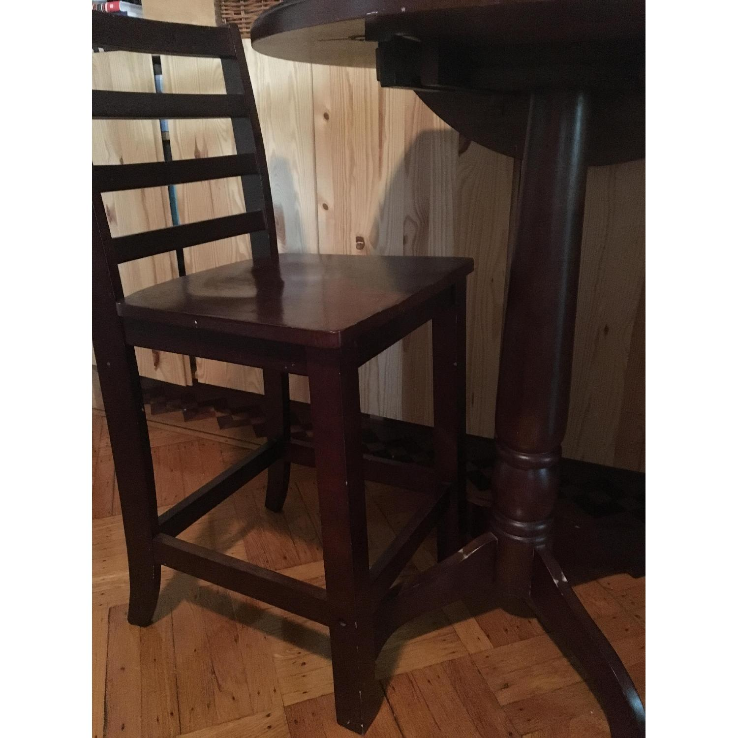 Wood Pub Table w/ 2 Chairs - image-3